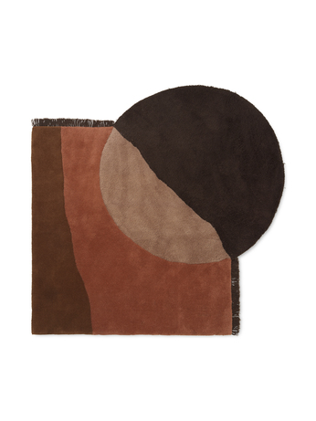 Ferm Living View Tufted Rug Red Brown