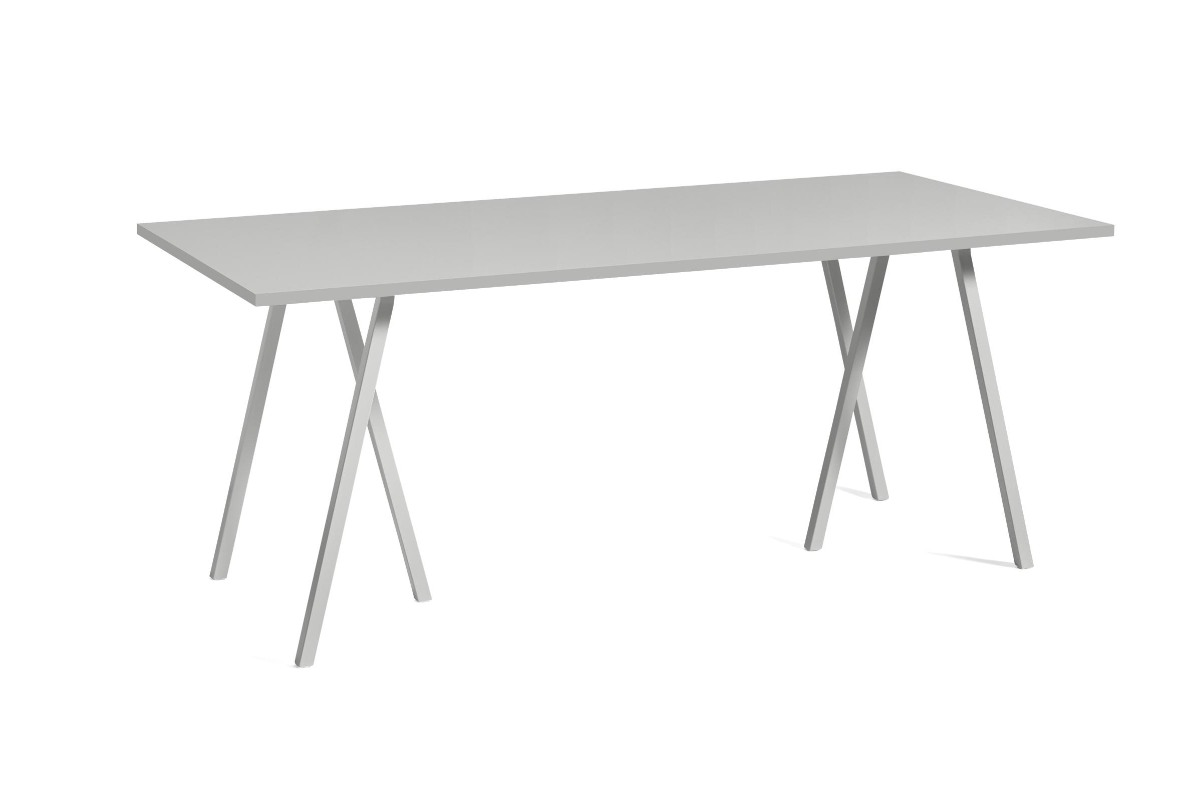 Loop stand table grey linoleum 180 cm