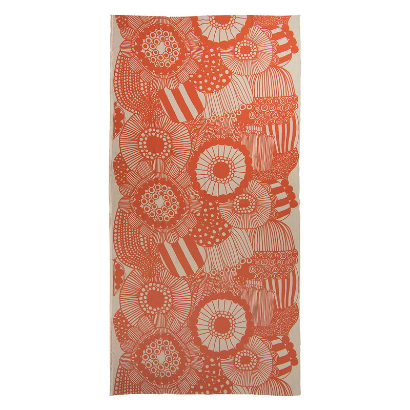 Siirtolapuutarha table cloth linen orange