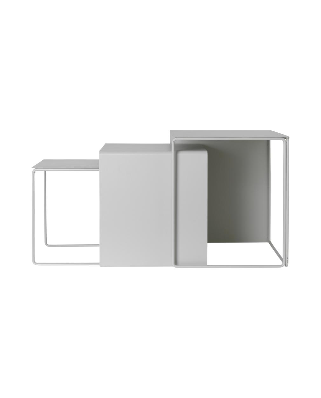 Ferm Living Cluster Tables set3 Light Grey