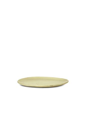 Ferm Living Flow Plate Medium Yellow Speckle