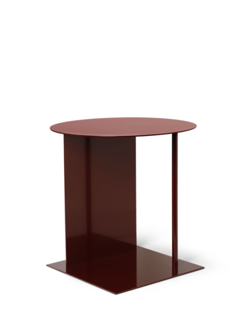 Ferm Living Place Side Table Red Brown