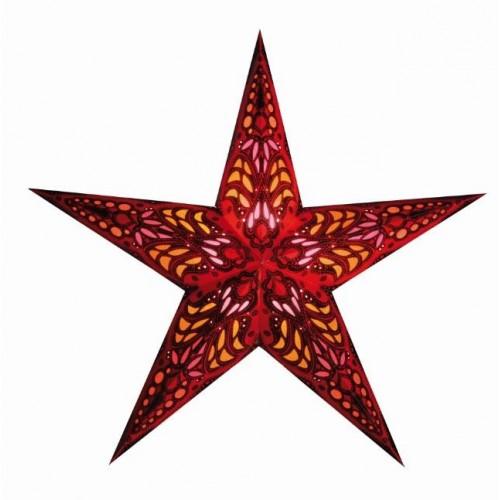 Kerstster lamp mercury red
