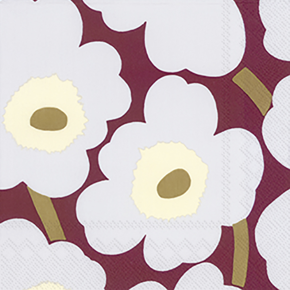 Unikko bordeaux lunch napkin