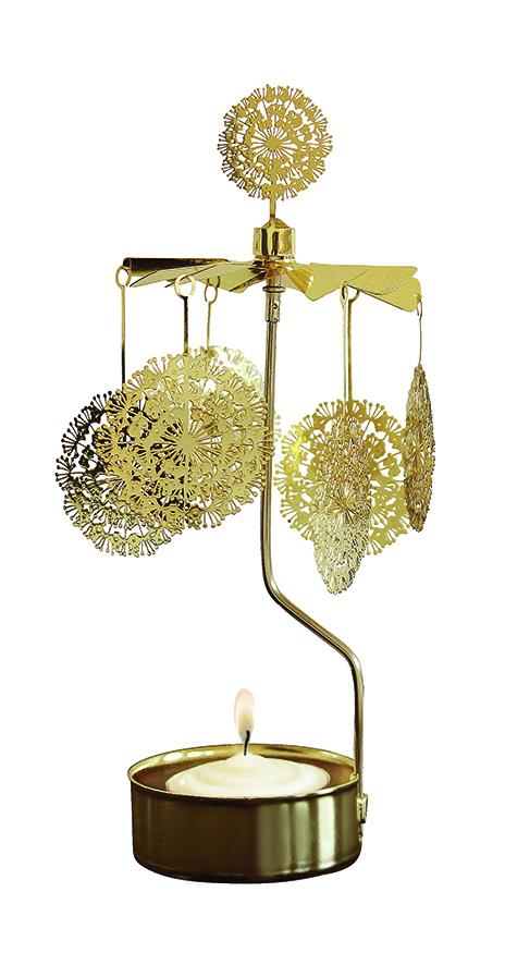 Waxinehouder dandelion gold
