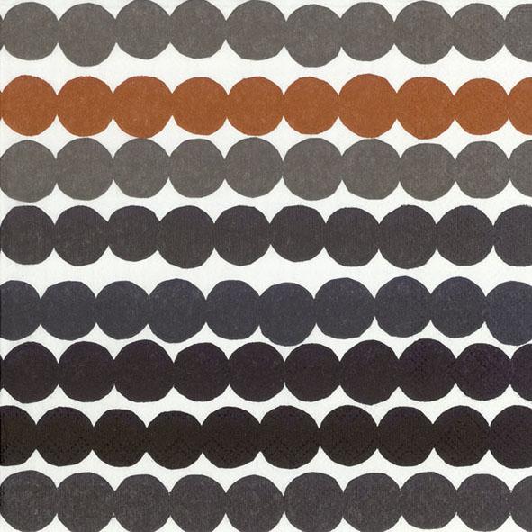 Rasymatto black/brown lunch napkin