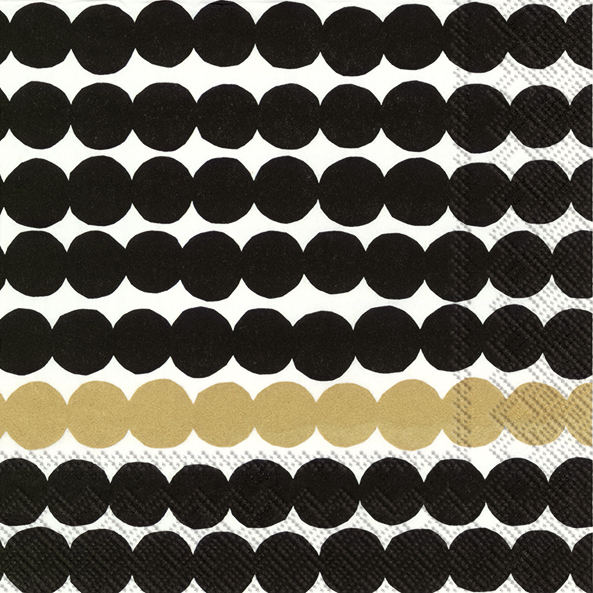 Rasymatto black/gold lunch napkin